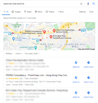 Wanchai Service GMB (Local SEO)